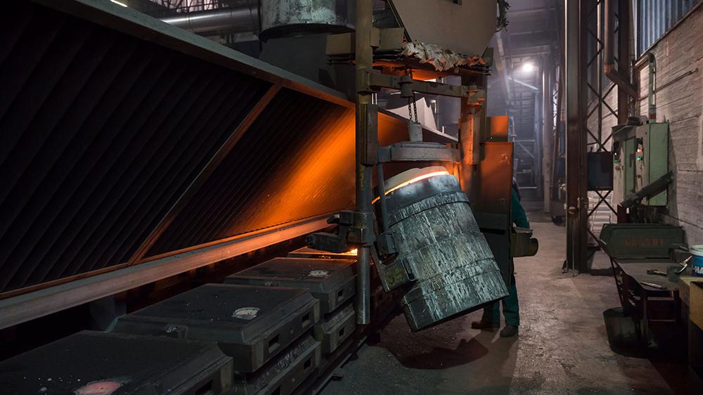 iron casting line